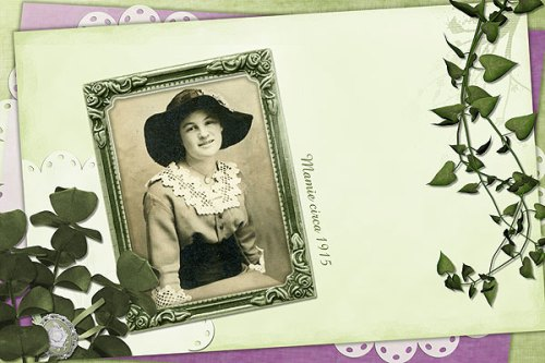 Mamie Sassaman Dilliplane portrait on 4x6 layout