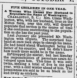 Five Children in One Year (Oct. 4 1888)